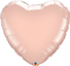Heart Shaped Rose Gold Foil Helium Balloon